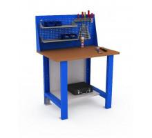 Верстак WOKER WTS 1000 №1, стол верстак слесарный металлический, 1000 мм, ДВК, IRON