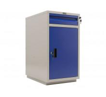 Инструментальная тумба WD-2, с ящиком и дверцей, Практик, Промет