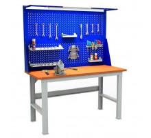 Стол верстак слесарный EXPERT (№607) W160.F2/F2.021, металлический с экраном, Промет