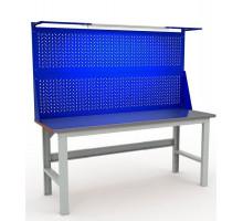 Стол верстак слесарный EXPERT WTS200.F2.F2.021, металлический с экраном, 2000 мм, Промет