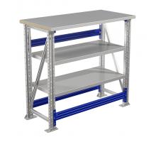Стол верстак слесарный металлический, 1000 мм, Промет MASTER (№106) MT100.MF1/MF1.002