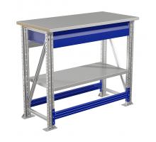 Стол верстак слесарный MASTER (№104) MT100.MF1/MF1.101, металлический, 1000 мм, Промет