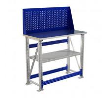 Стол верстак слесарный металлический с экраном, 1000 мм, Промет MASTER (№49) MT100.MF1.MF1.011