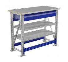 Стол верстак слесарный металлический, 1000 мм, Промет MASTER (№109) MT100.MF1.MF1.102