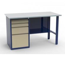 Верстак СВ-1Т.04.00.14, слесарный металлический с 4 ящиками, 1400 мм, Святогор, стол