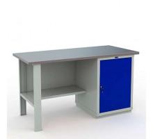 Стол верстак слесарный металлический с тумбой и дверцей, 1600 мм, EXPERT WTS160.F2.WS1.000