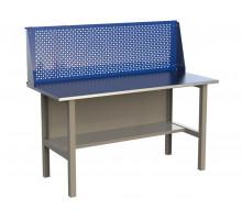 Стол верстак слесарный металлический с экраном, 1600 мм, серия MasterLine, Wellmet