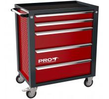 Тележка инструментальная ТЗИ-5Pro, 5 полок, цвет красный, Wellmet