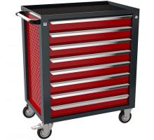 Тележка инструментальная ТЗИ–8Pro, 8 полок, цвет красный, Wellmet