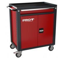 Тележка инструментальная ТЗИ-1Pro, цвет красный, Wellmet