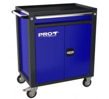 Тележка инструментальная ТЗИ-1Pro, цвет синий, Wellmet