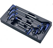 Комплект L-образных ключей TORX Hans в ложементе, TT-19